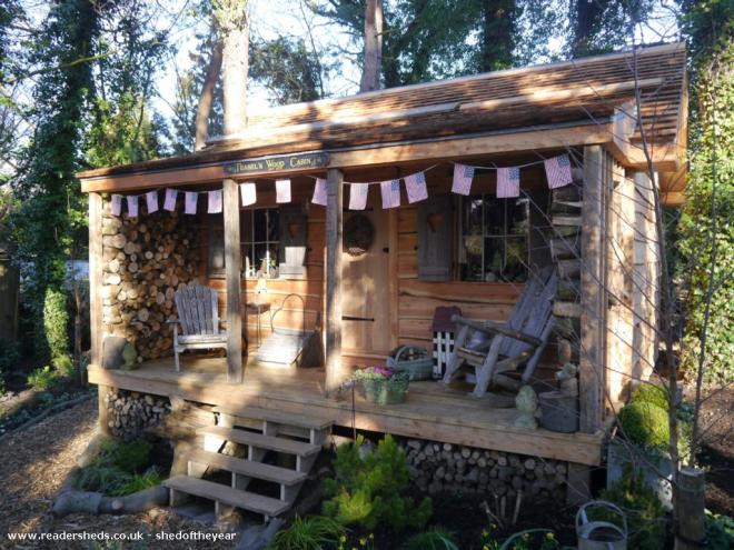 Teasel's Wood Cabin - John and Rebecca Bunting - Back garden