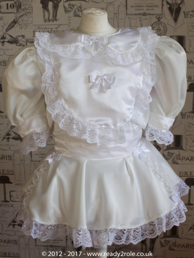 Sissy Dress Rosie Ivory Satin by Ready2Role