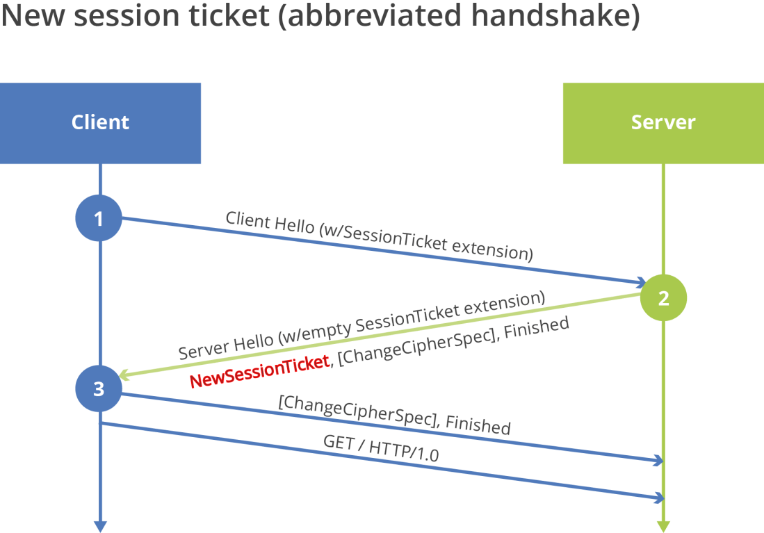 Figure 3 - Server Issuing New Session Ticket during Abbreviated Handshake