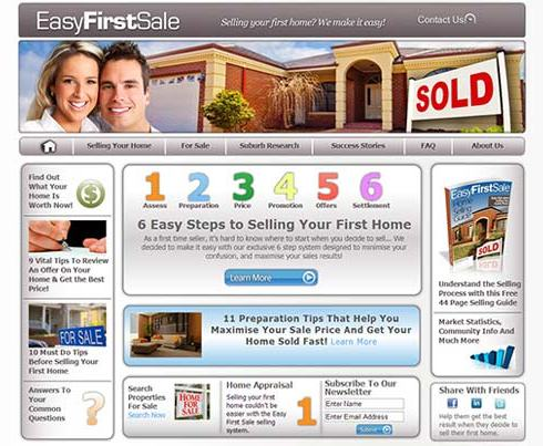 Easy First Sale Targeted Real Estate Website