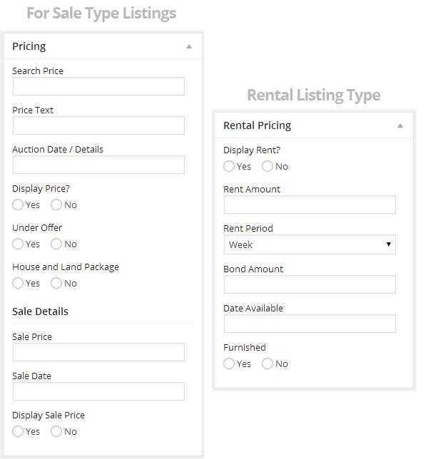 Listing-Edit - Pricing