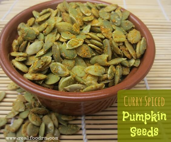 curry spiced pumpkin seeds Curry Spiced Pumpkin Seeds