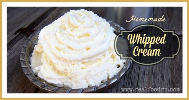 Homemade Whipped Cream | Real Food RN
