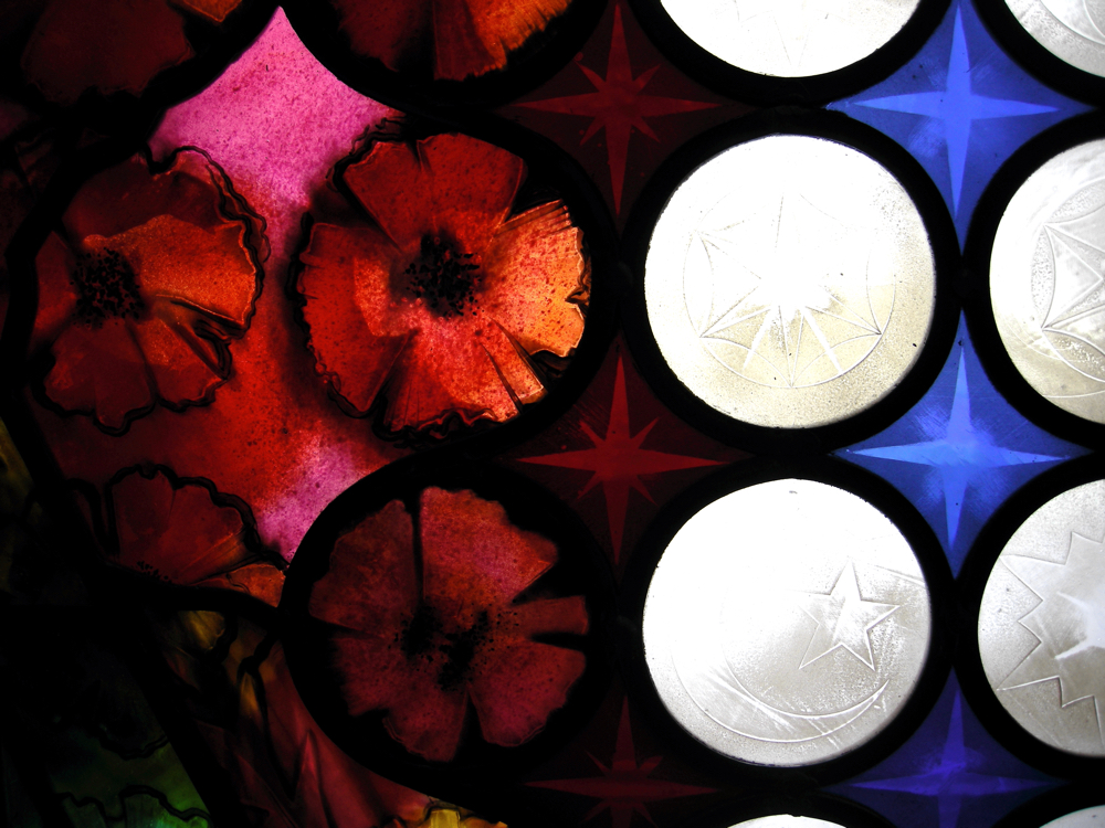 How to paint these stained glass poppies the questions for Glass painting techniques