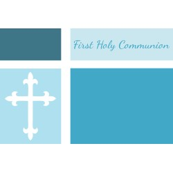 Peachy Confirmation Invitations Or Communion Invitations Party City Communion Invitations Samples This Blank Blue Color Blocked Communion Invitation invitations First Communion Invitations