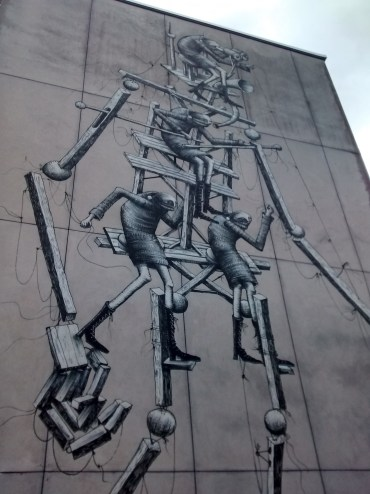 Awesome graffiti on a wall of Chichester College
