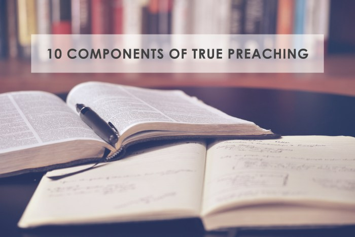 10 components of true preaching