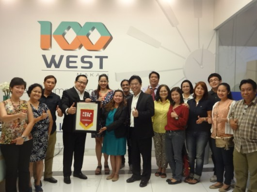 REBAP Makati January Business Meeting with Business Partner Filinvest at 100 West Showroom Buendia Makati City. Guest Speaker Mr. Andy Manalac Chief Advisory of ThinkInvest.