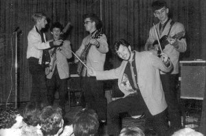 """Ringo in the spotlight during his """"Starrtime"""" segment with Rory Storm and the Hurricanes."""