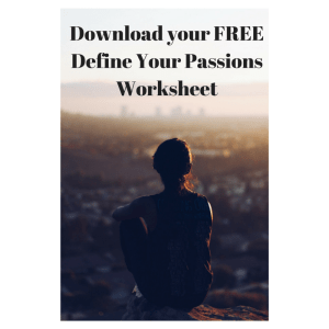 Define Your Passions - Worksheet (2)