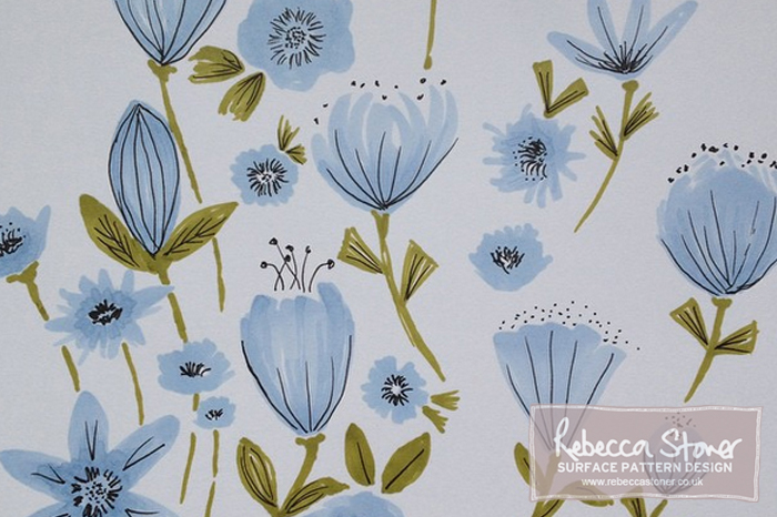 Pretty Florals and New Pens - Blog Post - Rebecca Stoner