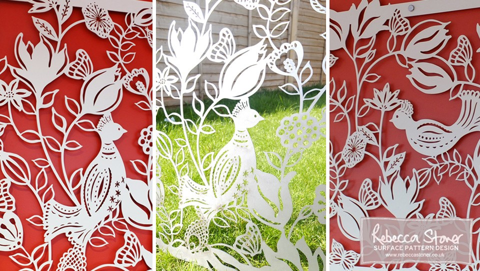 Laser Cut Panels by Rebecca Stoner