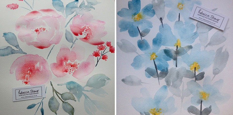 Watercolour Florals_1  by Rebecca Stoner
