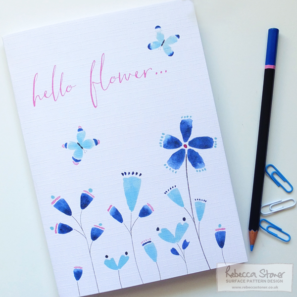 Hello Flower Notebook by Rebecca Stoner