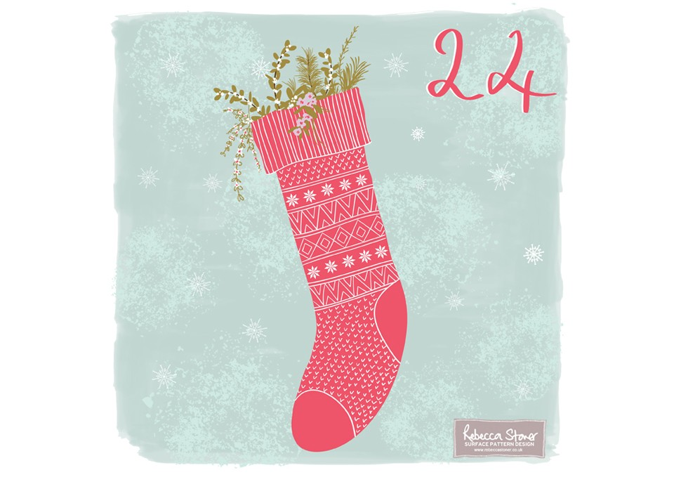 Christmas Advent 2014_Stocking  by Rebecca Stoner