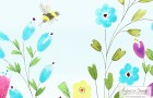 Summer Meadow Wallpaper for York Hospital by Rebecca Stoner