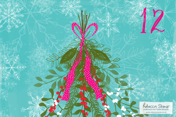 Illustrated Advent 2015 day 12 Rebecca Stoner