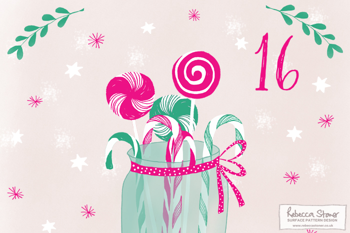 Illustrated Advent 2015 day 16 by Rebecca Stoner