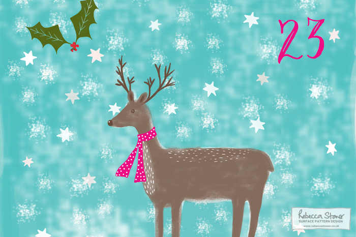 Illustrated Advent 2015 day 23 by Rebecca Stoner
