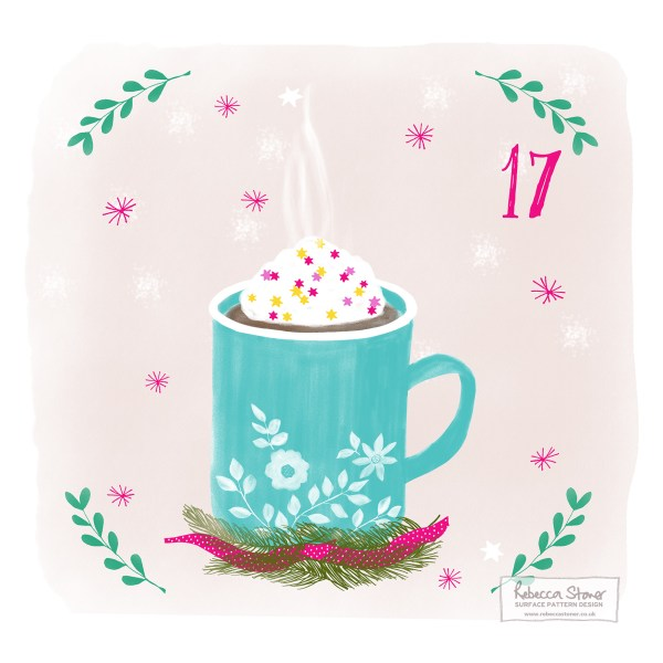 Illustrated Advent Day 17 by Rebecca Stoner