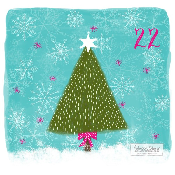 Illustrated Advent Day 22 by Rebecca Stoner