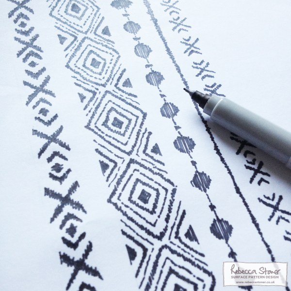 Ethnic Pen Stripe by Rebecca Stoner