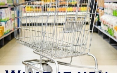 Front view of cart in supermarket