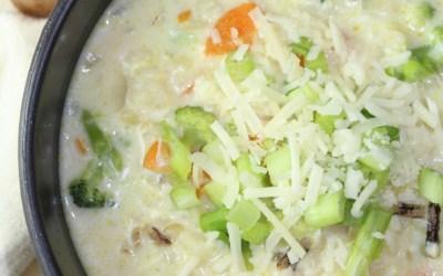 Creamy Wild Rice and Broccoli Soup