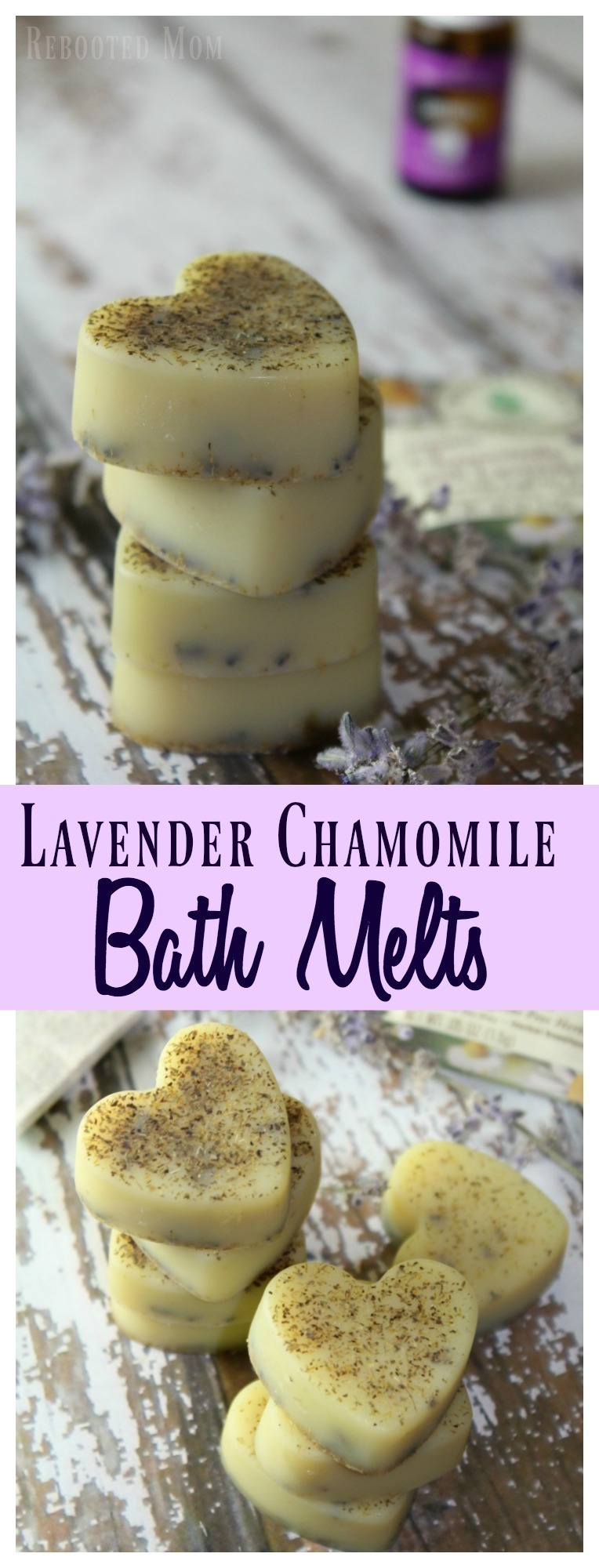 These Lavender Chamomile Bath Melts are incredibly easy to make, and such a fun gift idea for friends, teachers or family!