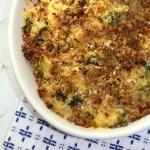 Healthier Cheesy Broccoli Quinoa Casserole