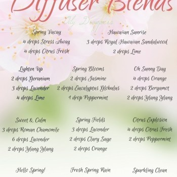 Diffuser Blends to Welcome Spring