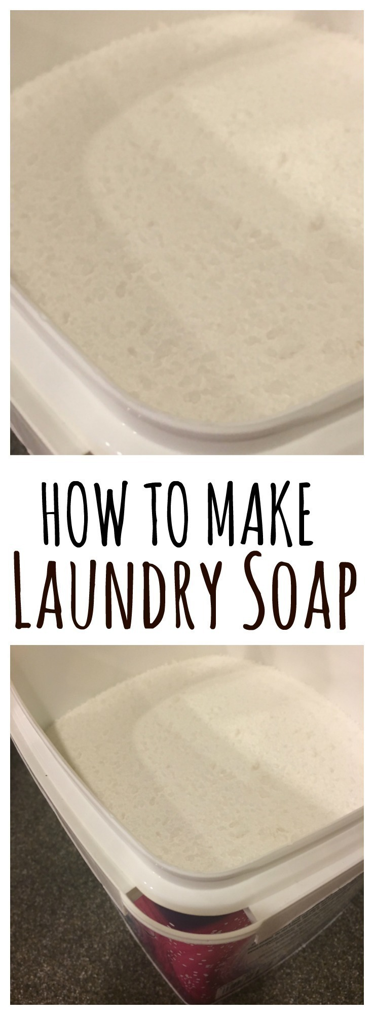 Make your own powdered laundry soap at home in just minutes with 2 key ingredients. It's non-toxic, economical and effective!
