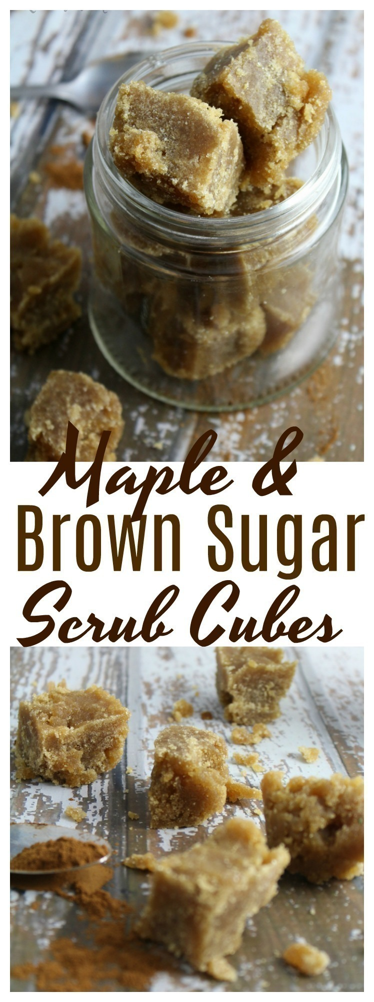 These Maple and Brown Sugar Scrub Cubes are wonderful for exfoliating dull, dry skin, easy to make, and are great to give as gifts!