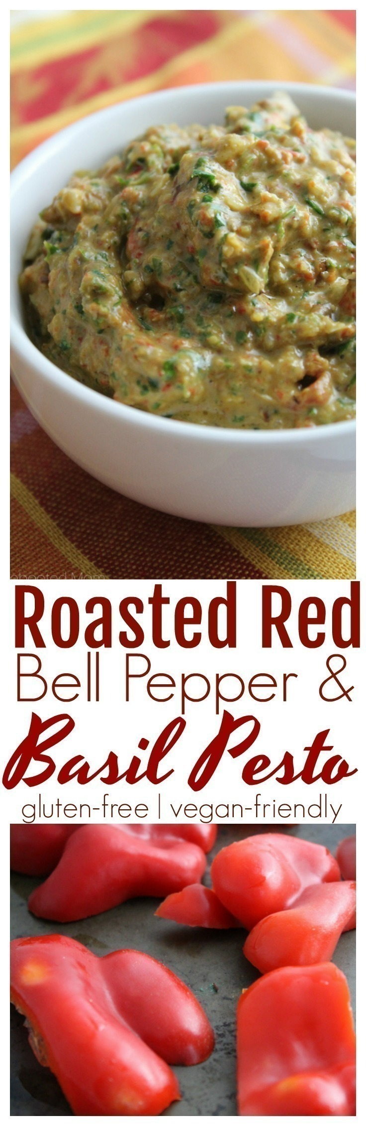 A delicious combination of roasted red bell peppers and fresh basil in a pesto that takes just minutes to make!