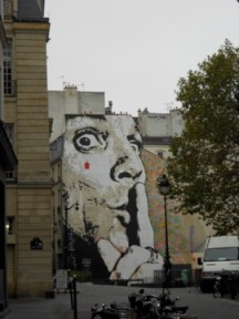 Paris Street art. I don't know the artist, but it's cool.