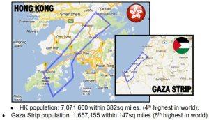 Comparison Hong Kong and Gaza