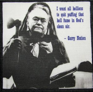 Carrie Nation, If she says she's a woman, good manners suggests I agree