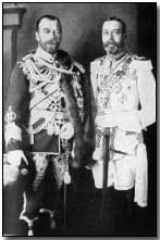 Tzar Nicholas II and King George V.