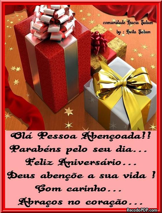 Recado Facebook Parabéns Pelo Seu Dia, Feliz Aniversário!
