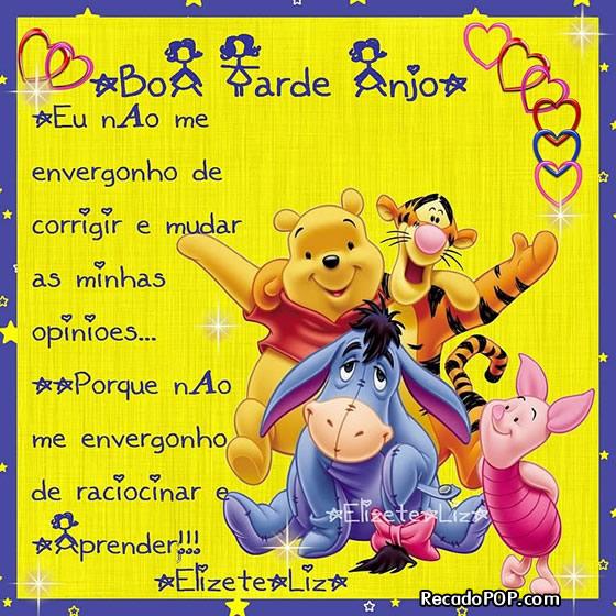 Recado Facebook Boa Tarde Anjo