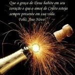 Recado Facebook Feliz ano novo com Jesus