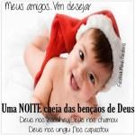 Recado Facebook Uma noite de natal cheia de bençãos
