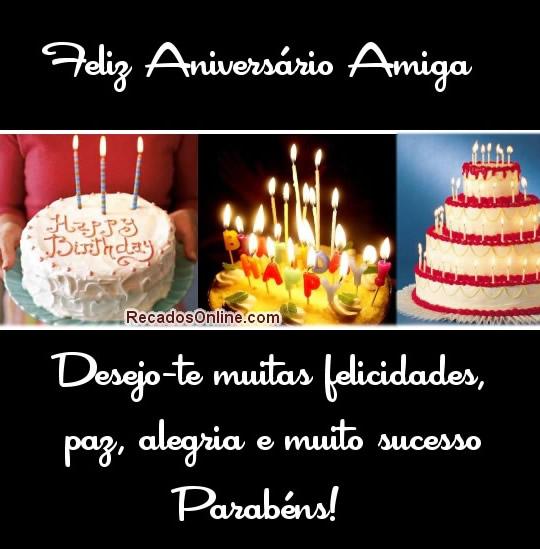 Recado Facebook Feliz aniversário amiga