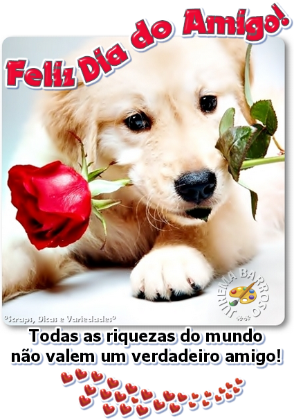 Recado Facebook Feliz dia do amigo!