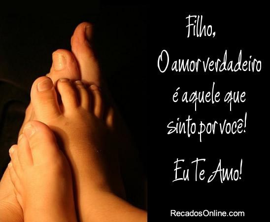 Recado Facebook Filho, eu te amo verdadeiramente!