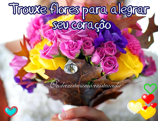 Recado Facebook Flores para te alegrar!