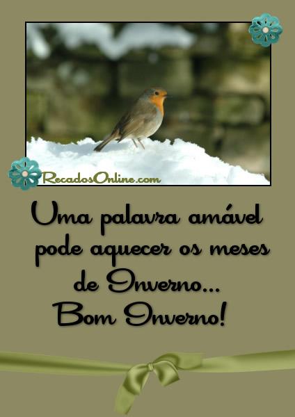 Recado Facebook Bom inverno!