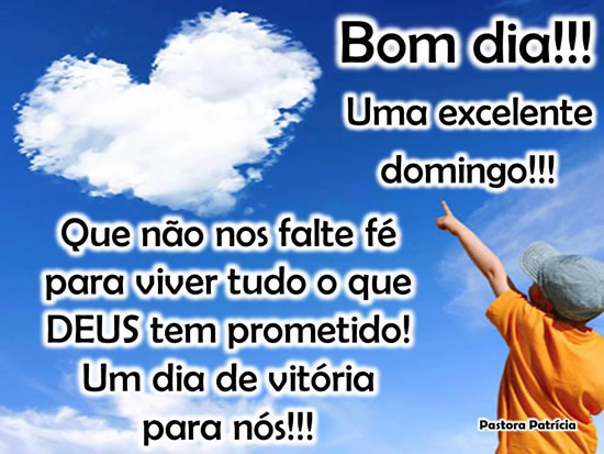 Recado Facebook Um excelente DOMINGO!
