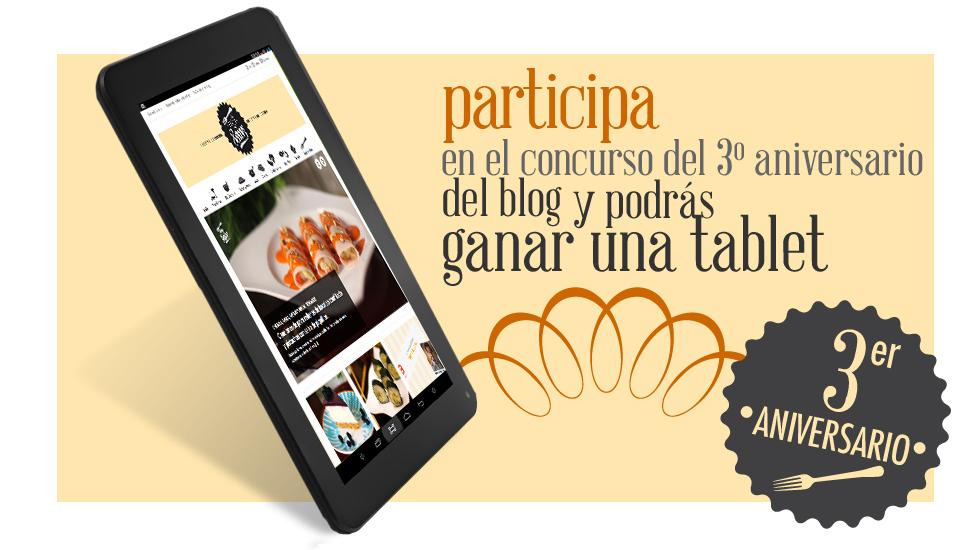 Sorteo de una tablet por el 3º aniversario del Blog
