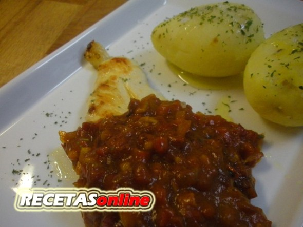 Pechuga de pollo a la riojana - Recetas de cocina RECETASonline